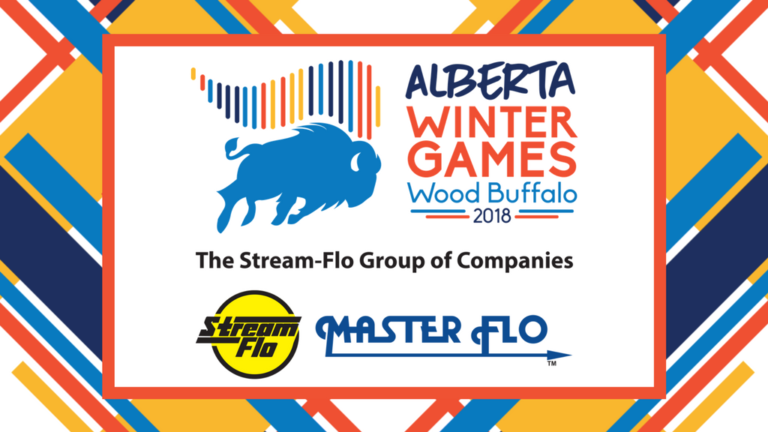 Alberta Winter Games and Stream-Flo Group logos