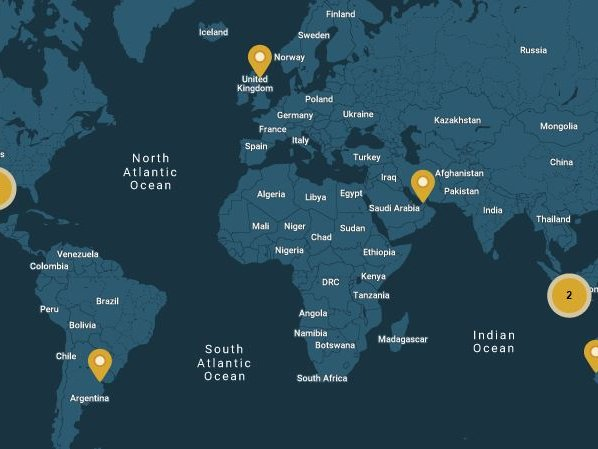 World map landing page 1.4 ratio